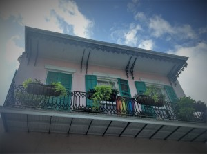 A balcony in the French Quarter where Mayer Building Company in New Orleans, LA completed preventative maintenance