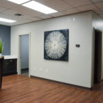 Reception area for an office building built by Mayer Building Company in New Orleans, LA
